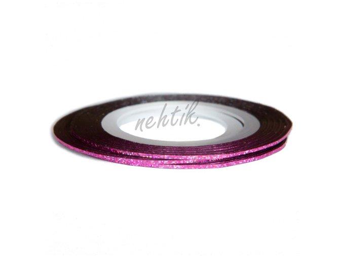 Zdobení - Nail Art pásek světle růžový hologram