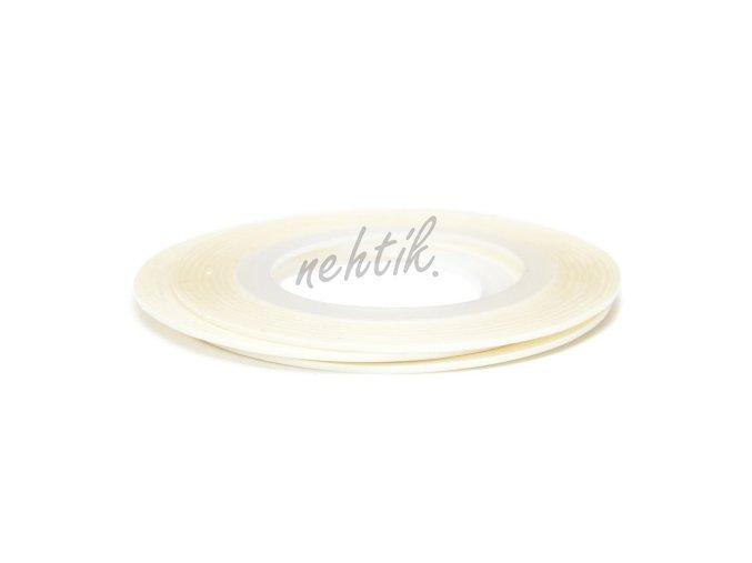 Zdobení - Nail Art pásek bílý