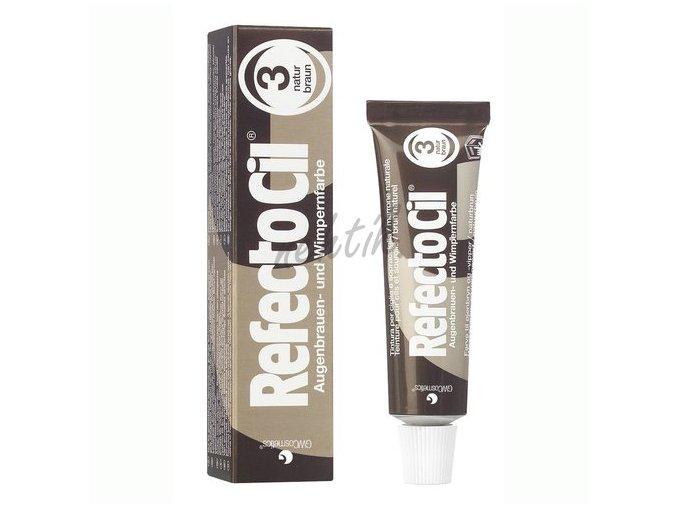 RefectoCil barva na řasy č.3 přírodní hnědá