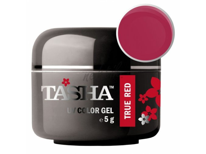 Uv gel barevný Tasha True Red 5g - Black Line