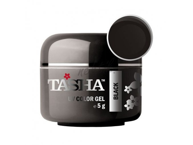 Uv gel barevný Tasha Black 5g - Black Line