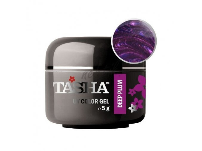 Uv gel barevný Tasha Metallic Deep Plum 5g - Black Line