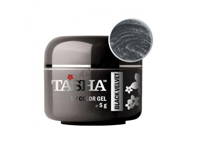Uv gel barevný Tasha Metallic Black Velvet 5g - Black Line