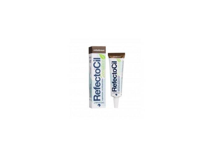 RefectoCil Sensitive Barva na řasy a obočí Medium Brown 15 ml