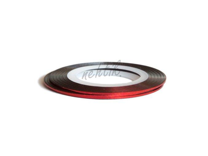 Zdobení - Nail Art pásek červený