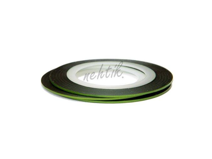Zdobení - Nail Art pásek zelený