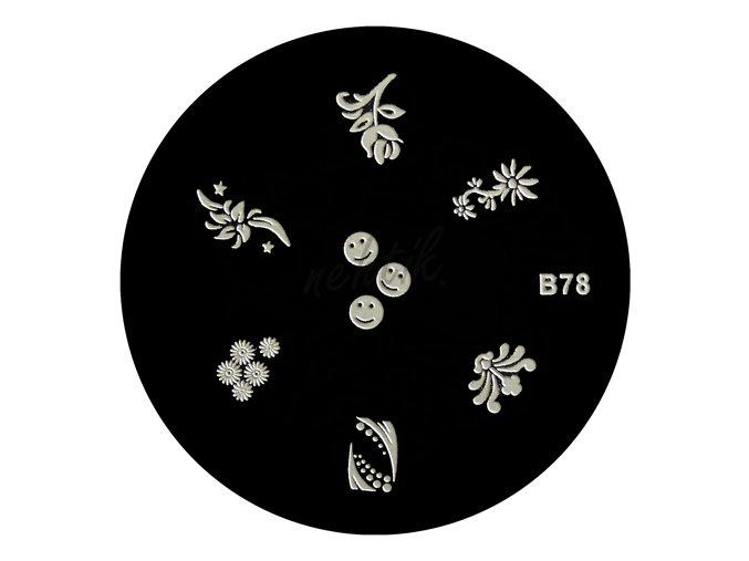 Destička 2B78 - razítka na nehty