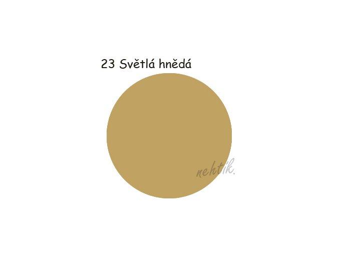 Zdobící akrylová barva na nehty - č. 23 sv.hnědá 30g