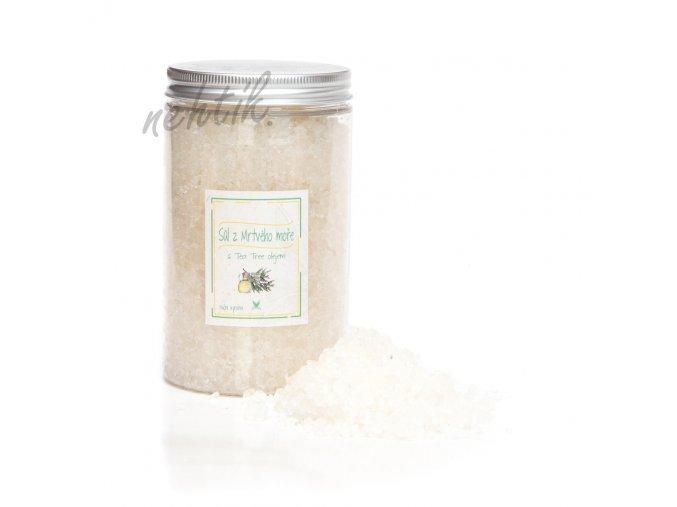 Sůl z Mrtvého moře s Tea tree, dóza