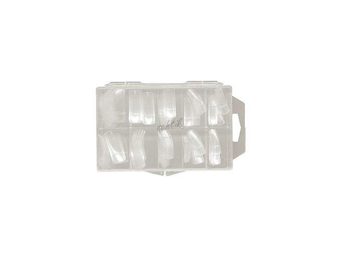 Nehtové tipy transparentní rovné - 100ks BOX