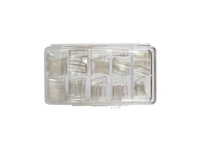 Nehtové tipy transparentní rovné - 250ks BOX