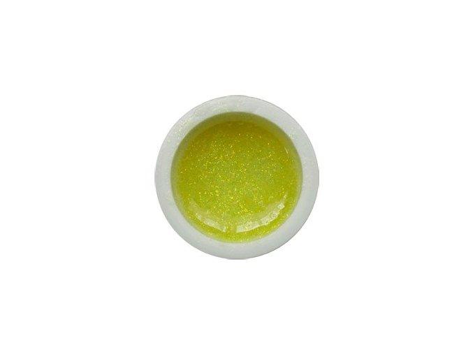 Glitter barevný UV gel g05 žlutý