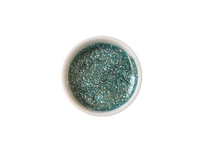 Glitter barevný UV gel g13 ledově zelený