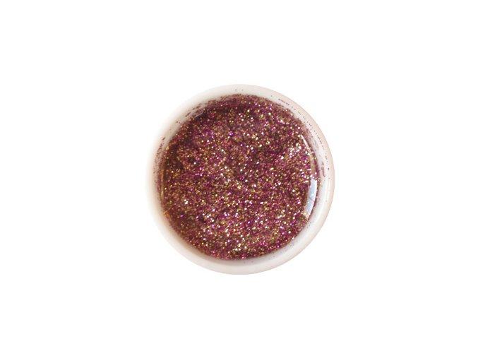 Glitter barevný UV gel g18 fialovozlatý