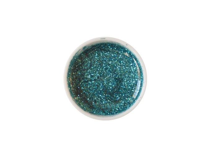 Glitter barevný UV gel g20 tyrkysově zelený