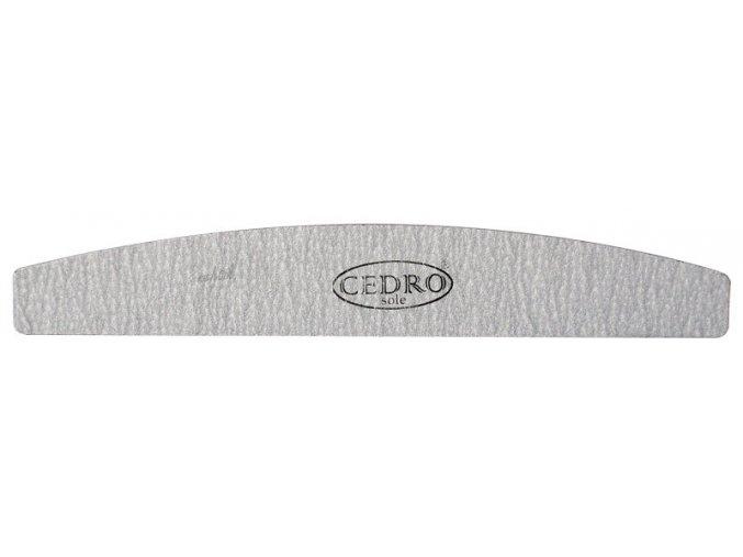 Pilník na nehty půlměsíc šedý zebra 80/80