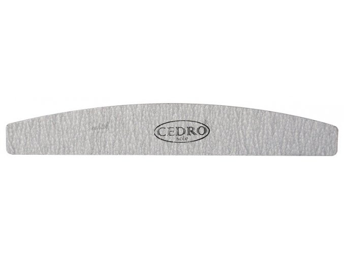 Pilník na nehty 80/80 šedý zebra půlměsíc Cedro