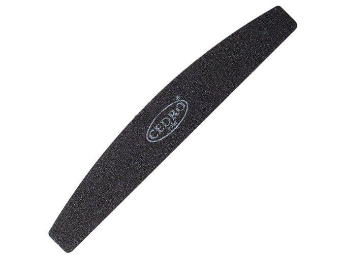 Pilník na nehty půlměsíc černý 80/80