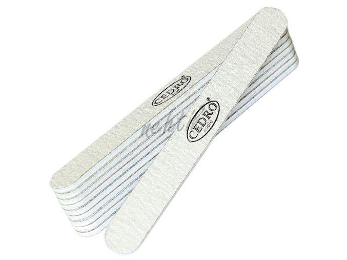 Sada - Pilník na nehty šedý zebra 100/100, 10ks