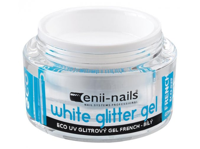UV GEL french white glitter 10 ml Enii-nails