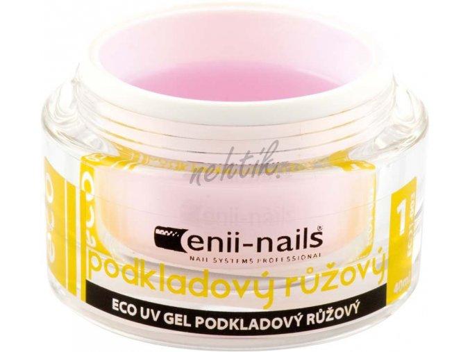 Podkladový UV gel Enii růžový 10 ml