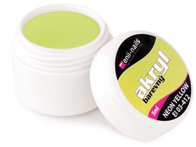 Barevný akryl - Neon Yellow 5ml Enii-nails
