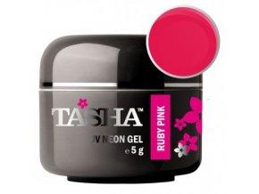 tasha barevny gel neon ruby pink 5 g black line