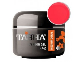 tasha barevny gel neon medium coral 5 g black line