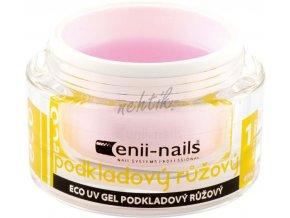 Podkladový UV gel Enii růžový 5 ml