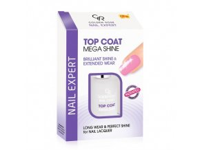 Top Coat Mega Shine vyziva golden rose