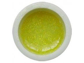 Glitter barevný UV gel g05 žlutý výprodej