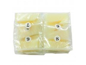 Nehtové tipy mléčné rovné Nailee - 500ks sáček výprodej