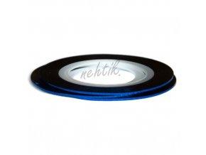 Zdobení - Nail Art pásek tmavě modrý hologram