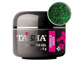 Uv gel glitrový Tasha Emerald Green 5g - Black Line