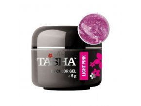 Uv gel barevný Tasha Metallic Light Pink 5g - Black Line