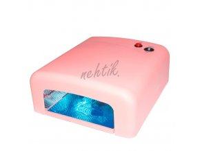 UV Lampa na gelové nehty 36W barva růžová