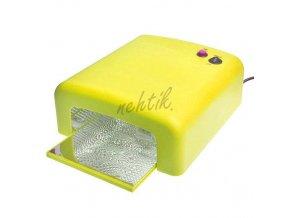 UV Lampa na gelové nehty 36W barva žlutá