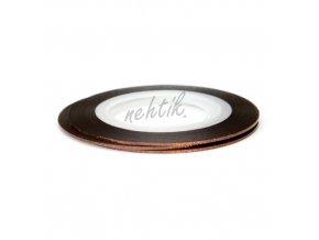 Zdobení - Nail Art pásek hnědý hologram