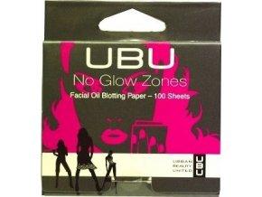 UBU No Glow Zones savý papír na obličej 100 ks
