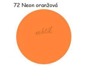 Zdobící akrylová barva na nehty - č. 72 neon oranž. sv. 30g