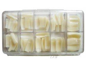 Nehtové tipy mléčné rovné - 250ks BOX