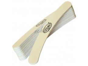 Sada - Pilník na nehty zahnutý bílý 100/120, 10ks