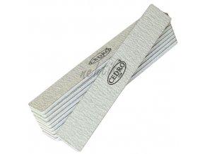 Sada - Pilník na nehty 100/100 šedý zebra jumbo - 10ks