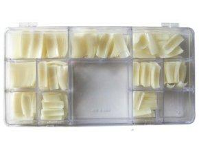 Nehtové tipy mléčné rovné - 500ks BOX