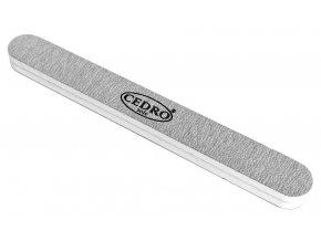 Pilník na nehty 100/180  šedý zebra rovný luxus Cedro
