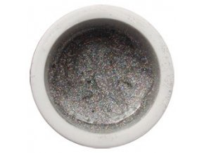 Glitter barevný UV gel g06 stříbrný mix
