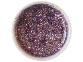 Glitter barevný UV gel g14 fialový