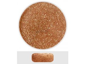 Glitterový akryl pudr 5 ml č.02 - měděný