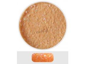 Glitterový akryl pudr 5 ml č.10 - oranžový s hologr.nití