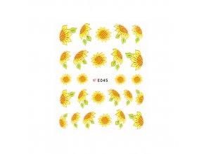 Samolepky na nehty E045 slunečnice